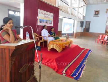 Guest Lecture on 'Control of Emotions' held at St Philomena PU College Puttur
