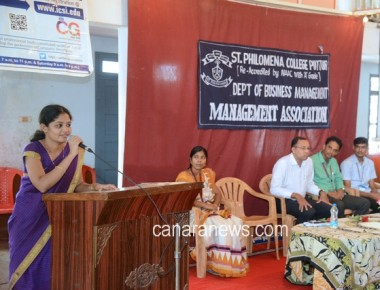 Information Programme on 'Company Secretary Course' held at St Philomena College Puttur