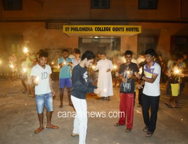 'Diwali' celebrated at St Philomena College Gents Hostel