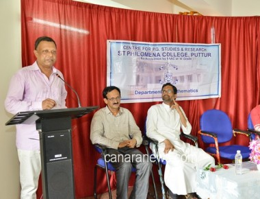 PG Dept of Mathematics of St Philomena College Puttur organized a Workshop