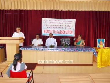 Vivekananda Jayanthi celebrated at St Philomena P U College Puttur