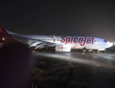 SpiceJet flight skids at Mumbai airport runway