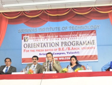 Srinivas Institute of Technology welcomes first year BE, BArch students