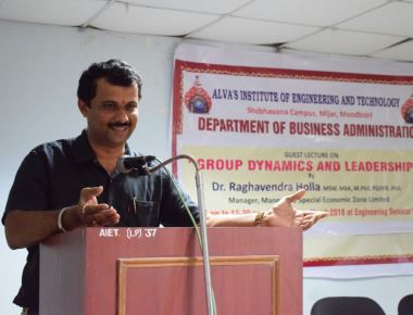 Guest Lecture on Group Dynamics and Leadership at Alva's MBA Department