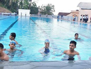 Swimming pool inaugurated at St. Aloysius College in Mangaluru