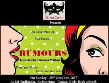 Stagecraft to present comedy play 'Rumours' on October 29
