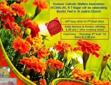 St Jude's Church RT Nagar to conduct Monthi Feast Novena from Aug 30