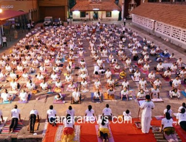 Mass Surya Namaskara session is a huge success