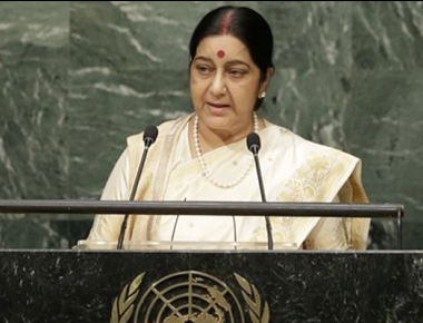 Don't need 4 points, We need only one- end terror: Sushma Swaraj at UN