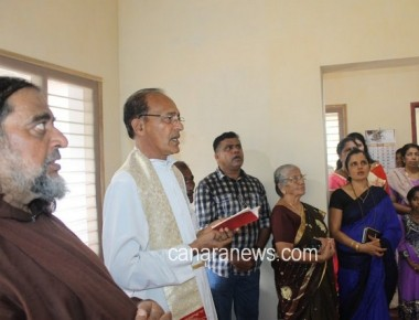 SSVP unit of Palimar Church helps to construct a house for the poor family