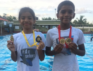 Swimmers Diganth, Siya from Puttur win medals at 1st BISC swimming competition
