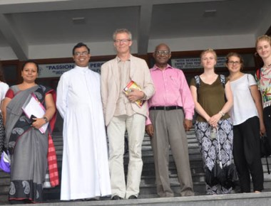 Faculty, students from Swiss nursing college visit Milagres Degree College
