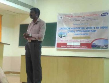 Technical talk held by Dr C G Ramachandra at NMAMIT, Nitte