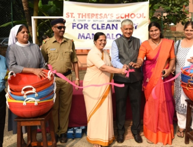 St Theresa's School Bendur observes cleanliness drive