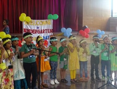 Tiny tots at St Aloysius Gonzaga School celebrate Colors' Day