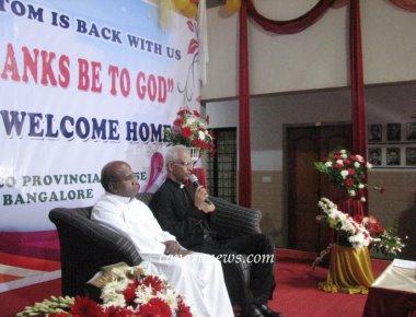 Fr Tom Welcomed at Provincial House
