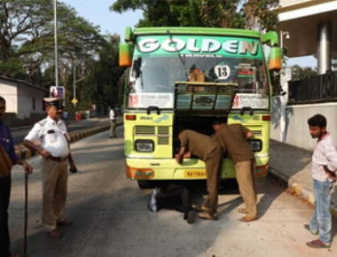 Traffic police drive against loud and shrill horns