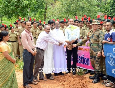 Tree Plantation Programme held at St Philomena College Puttur