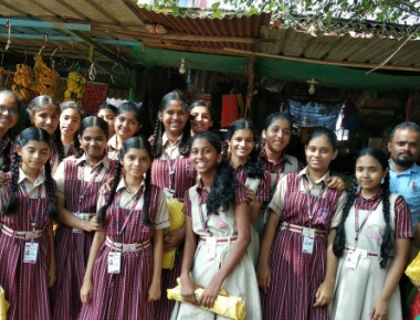 Trinity Central School promotes cotton bags at Udupi market