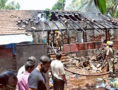 Widows quarters gutted in Udupi