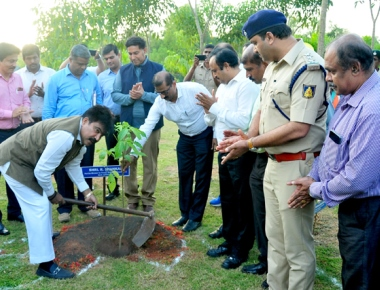 Forest & Environment minister R Shankar visits Adani UPCL plant