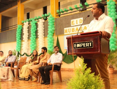 Minister U T Khader celebrates Eid with students at Expert PU College, Valachil
