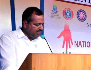 U. T. Khadar addresses youth during valedictory ceremony of NICY