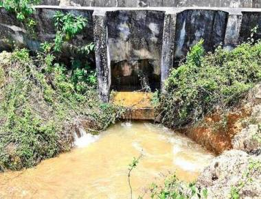 Breach in Varahi canal for second time at Molahalli