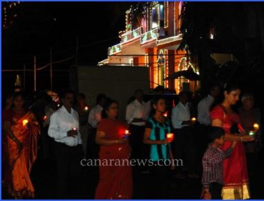 Blissful and divine celebration of word of god during the annual feast  ( Vesper) of Kundapur Church