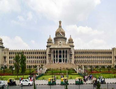 Tight security around Vidhana Soudha