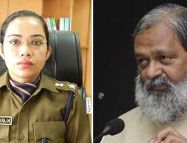 Woman cop transferred within 24 hours of spat with Haryana minister Anil Vij
