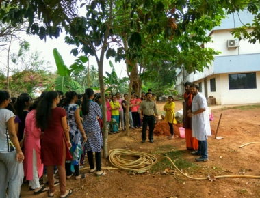 Vikas PU College students learn to make seed balls for afforestation promotion
