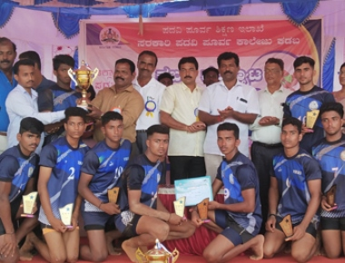 Vikas PU College boys bags second place in district Kabaddi tourney