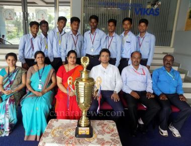 Vikas College bags runners up in district Volleyball tourney