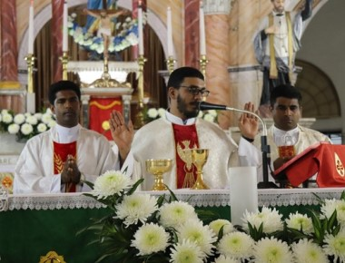 St Anthony's Ashram Jeppu: Second day novena in preparation for the feast of Relic of St Anthony.