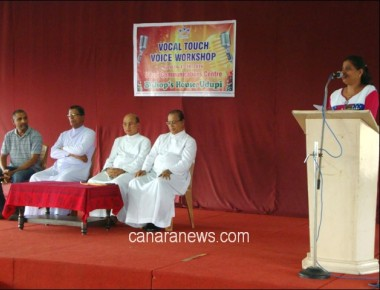 'Vocal Touch' voice workshop organized by Udupi diocese
