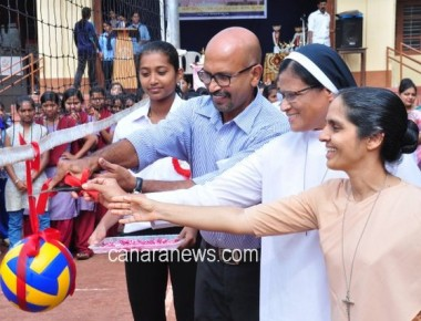 Taluk level volleyball tournament conducted at St Agnes College