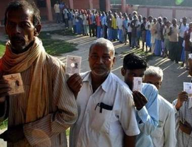 Voters queue up in first phase of Bihar assembly polls