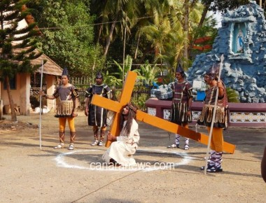"""Way of Cross"" at Holy Rosary Church Kundapur"