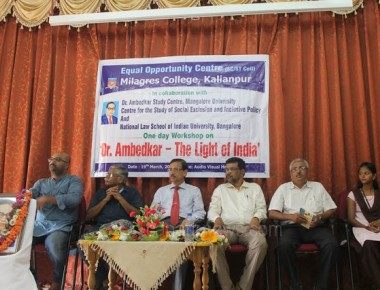 Workshop on Dr. Ambedkar - The Light of India inaugurated at Milagres College, Kallianpur