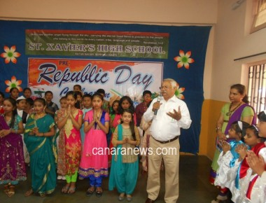 Republic Day  celebrated at St. Xavier's High School, Borivali (E)