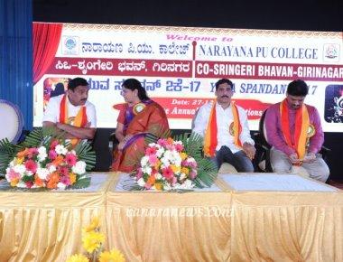 Yuvaspandan, The annual cultural fest organised by Narayana PU College, Girinagar Celebrated