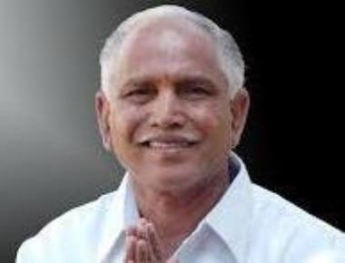 Yeddyurappa meets K'taka governor, requests him to invite BJP to form govt