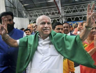Damocles sword hanging on head, Yeddyurappa sworn in as CM