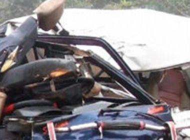 Five killed as bus hits Omni and bike at Yellapur