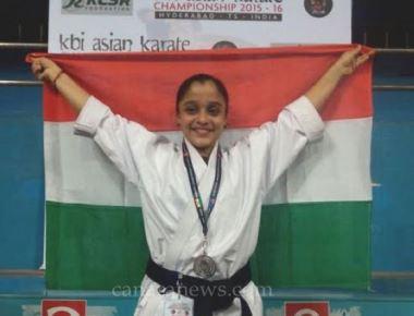 Yermal Chaitra Salian wins medals at National level Asian Karate Championship