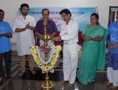 Yoga Club inaugurated at Vikas PU College