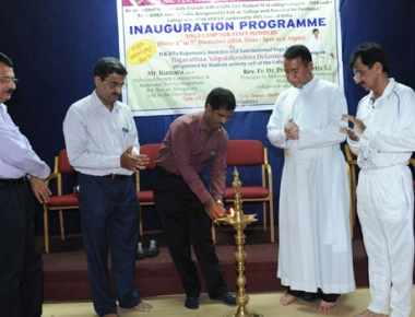 Yoga, Mudra camp inaugurated at St Aloysius College